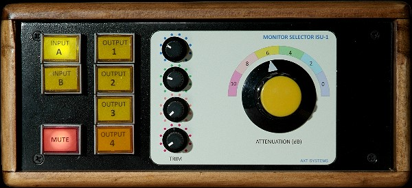 Front of Audio Monitor Selector