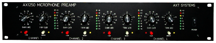 Mic Preamp front panel