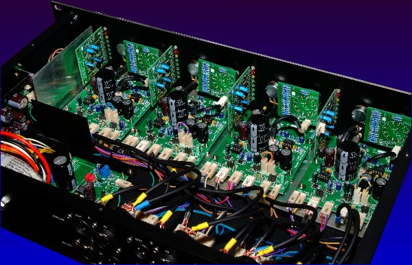 Inside showing preamps